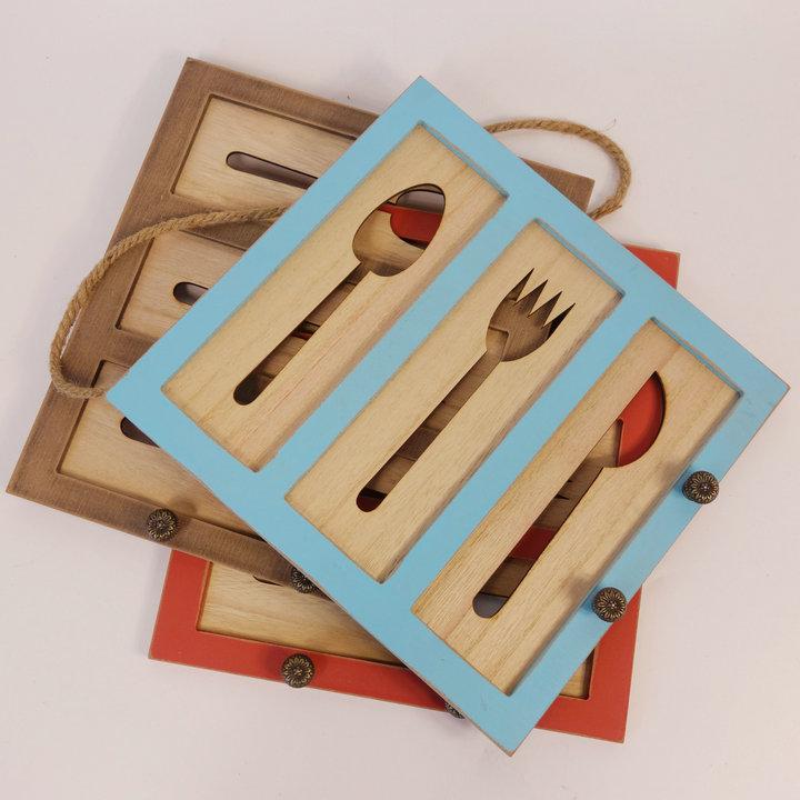 Gancho decorativo personalizado da parede de madeira da cozinha do vintage QUENTE do OEM
