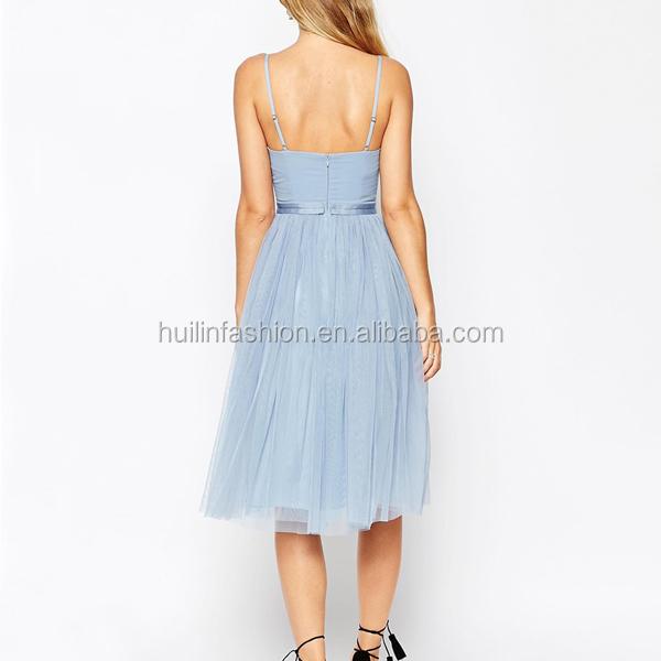 guter Service gutes Geschäft Beste Tüll Hellblaues Kleid Ice Buy Kleid Verstellbare Blau Kurze ...