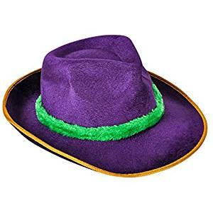 8d9259da4e2 Get Quotations · GIFTEXPRESS MARDI GRAS FEDORA/BAND/ Mardi Gras Fedora Hat/ Mardi  Gras Costumes/