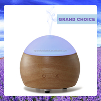 Wooden Home Office Aroma Air Diffuser Ultrasonic Mist Humidifier Colorful Led Light