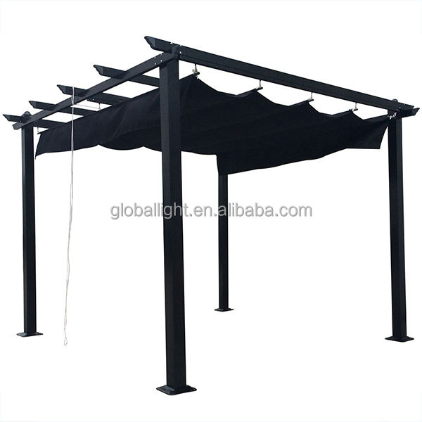 3x3m Outdoor Square Easily Assembled Metal Pergola Gazebo