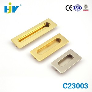 Excellent quality hafele brass recessed drawer pulls