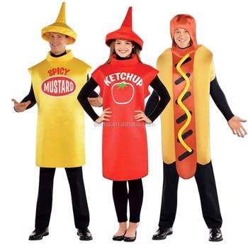 Halloween party cosplay divertente scherzo novità cibo festival USA stag  vestito operato outfit hot dog costume