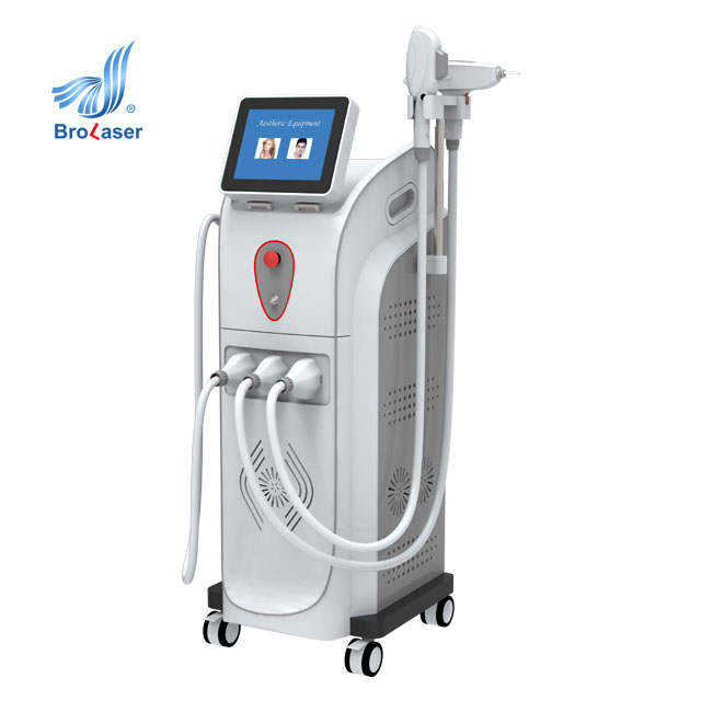 IPL SHR Nd Yag Laser Tattoo Removal Beauty Machine Permanent Beauty Salon Equipment Laser Hair Removal IPL