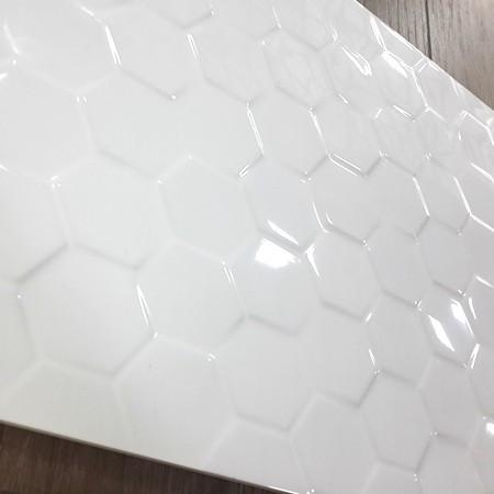 Wit 30x60 gepolijst golvend mould tegel voor industriële keuken ...