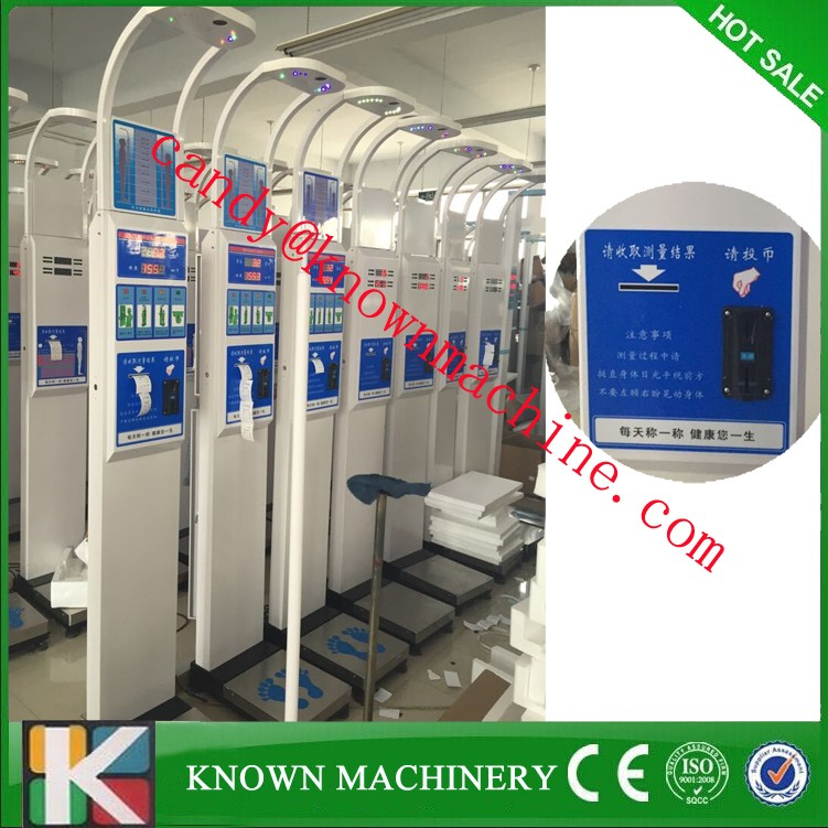 Coin Operated Height Weight Bmi Blood Pressure Machine/ Height And ...