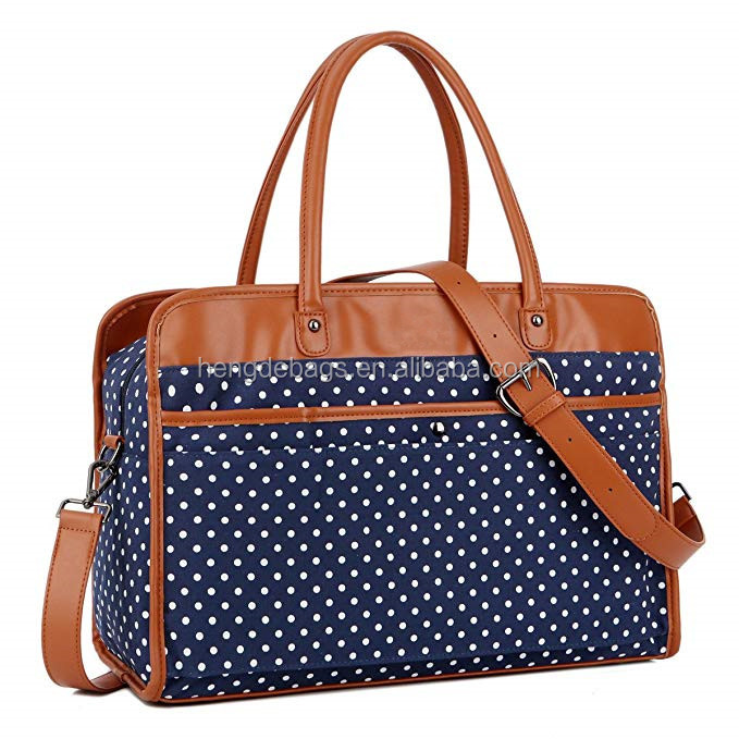 Mode Dames Femmes Toile Voyage Weekender Carry-on Duffel Fourre-Tout Sac