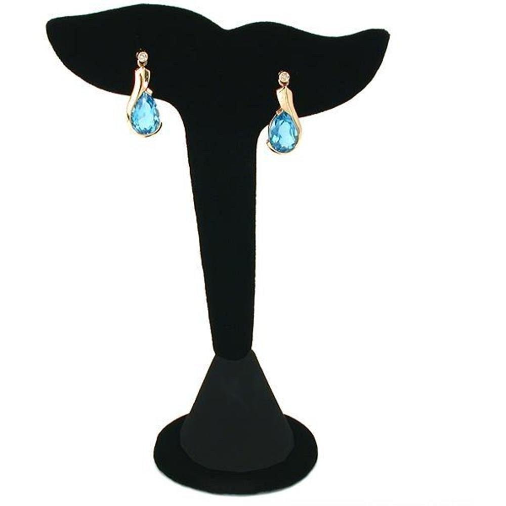 """Black Velvet Leaf Earring Display Stand Showcase 5"""""""