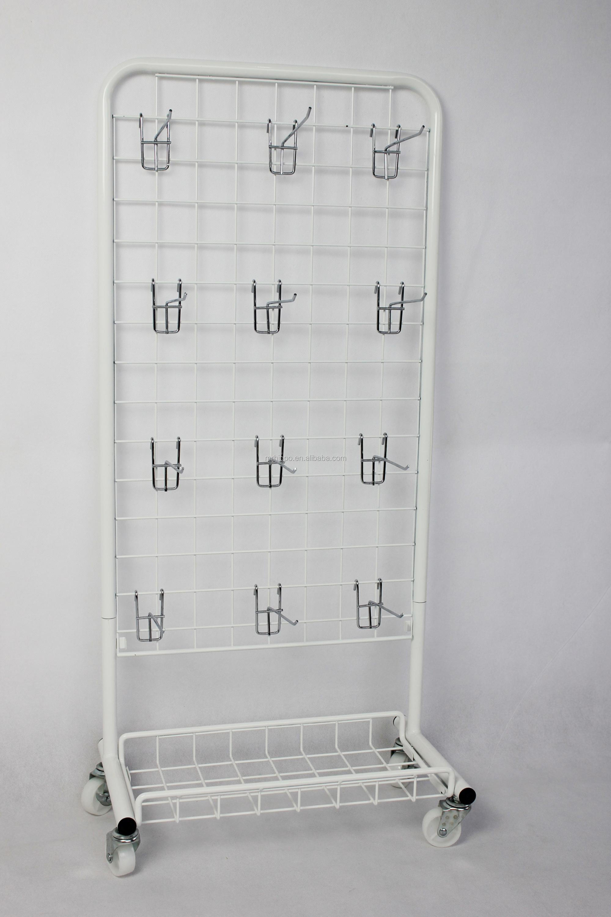 Customized metal cell phone accessory display stand/wire metal shelf/pegboard display
