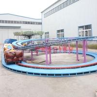 China supplier hot sale kids cheap new attraction amusement park roller coaster electric mini shuttle car ride