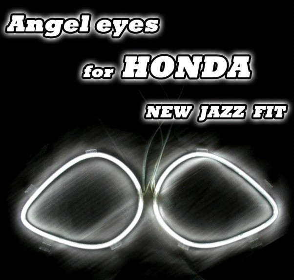 4 rings CCFL Angel Eyes fit for HONDA Halo Ring Halo Light for Jazzfit 2009 cathode tube 7 colors options