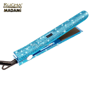 High quality gorgeous wholesale diamond 470 crystal rhinestone flat iron hair straightener with bling
