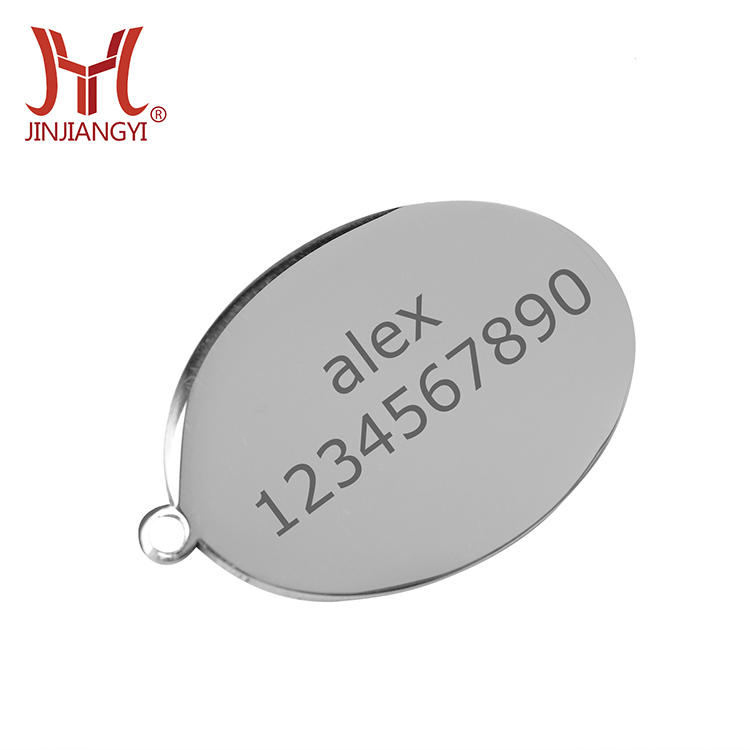 High quality metal crafts Custom dog id tag stainless steel dog name plate