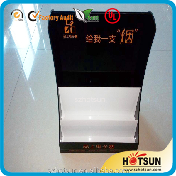 3 Layers desk acrylic electronic Cigarette display case with printing LOGO
