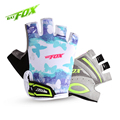 BAT FOX Free shipping Kids Cycling Gloves 3 Patterns Girls Boys Anti sweat Breathable Summer Bicycle