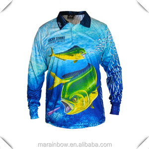 Wholesale Sublimation Fishing Shirt Outdoor Sports wear UPF50+ Performance T Shirt 100% Polyester Dry Fit Mens Polo Shirt