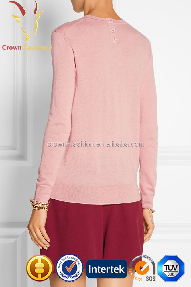 Cute Girls Soft Light Pink Cashmere Sweater - Buy Light Pink ...