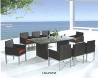Wicker furniture rattan china fashion teak garden bench furniture