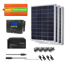 2000w Solar Power System Solar Energy System For Home With 1500w Solar Panel,200ah Battery solar panel 24v 250w