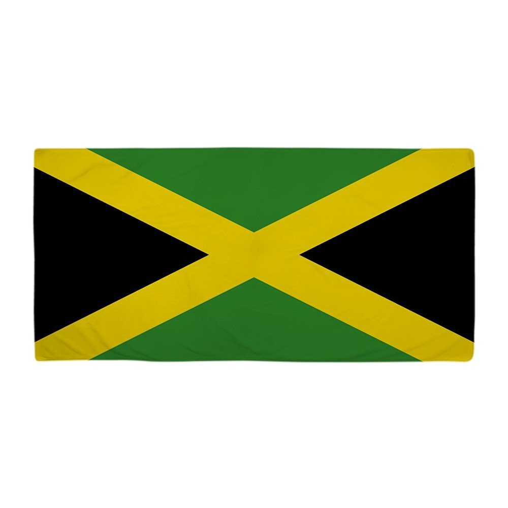 f3e953d48f Get Quotations · CafePress - Jamaican Flag - Large Beach Towel, Soft  30