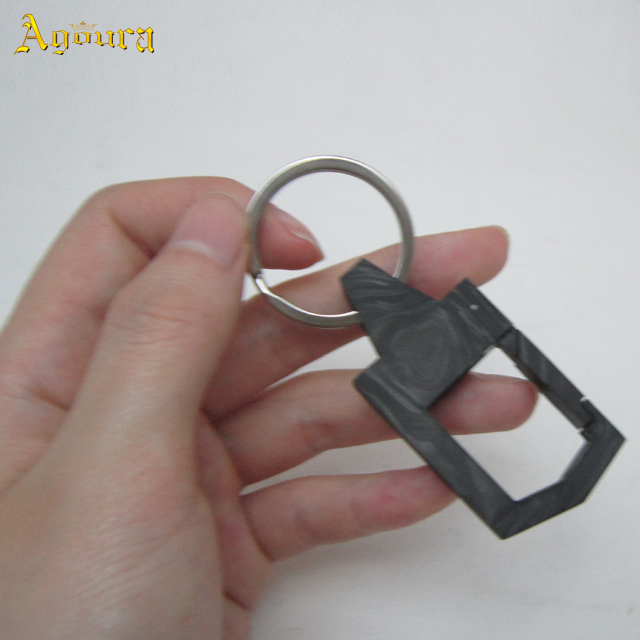 Customized Carbon fiber key chain matte key chain