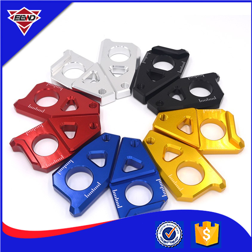 Motorcycle CNC Rear Axle Spindle Chain Adjuster Blocks for Yamaha TMAX 530 500 4 colors Available