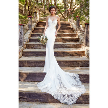 2018 New Designer Beautiful Lace Mermaid Bra Back Ed Trumpet Best Wedding Dress