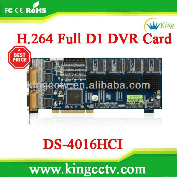H.264 Hikvision dvr card:HK-DS4016HCI with 16 chs Video&Audio