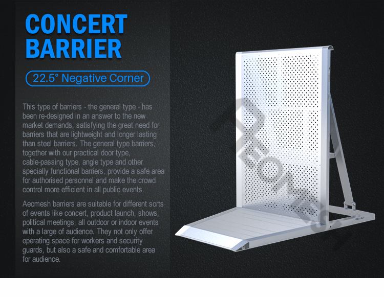 AEOBARRIER 22 negative corner Concert Barrier