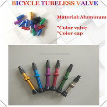 Mountain bike valve stem 40mm 44mm/presta valve stem color caps