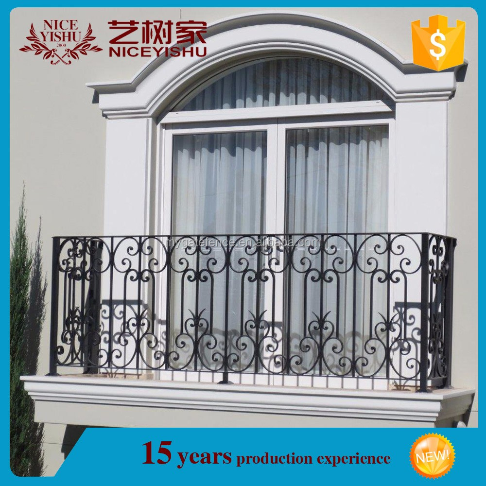 Simple steel balcony grill design wrought iron balcony for Balcony design