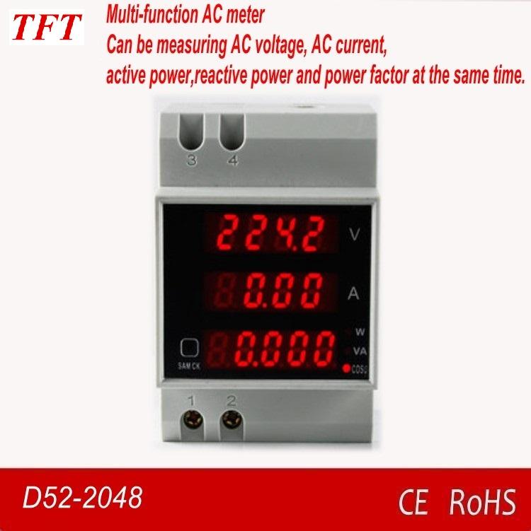 Digital Medidor de Voltaje Corriente Potencia Voltímetro Amperímetro AC 80-300V