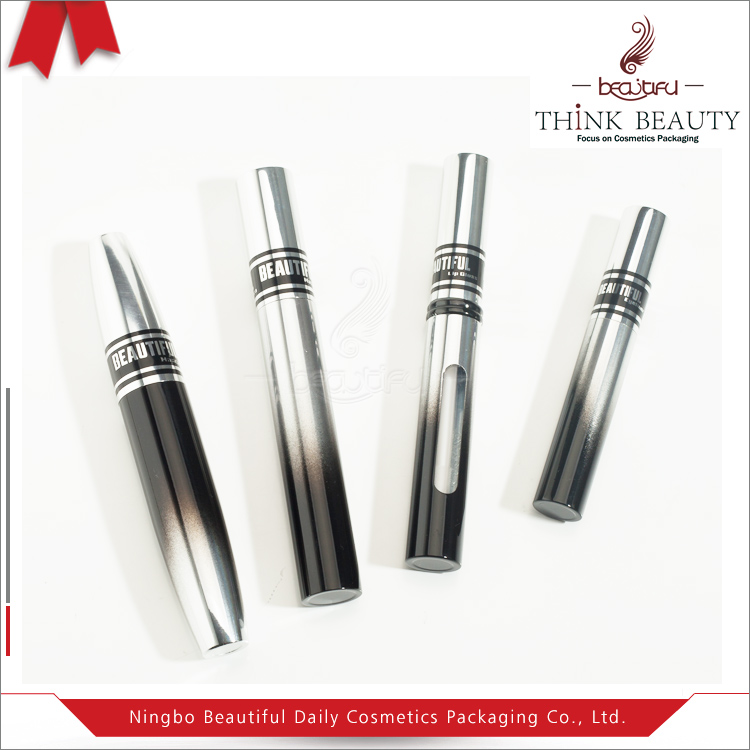 Black and silver 8ml/5ml/9ml/13ml Aluminum&PET cosemtic packing sets case tubes makeup set container