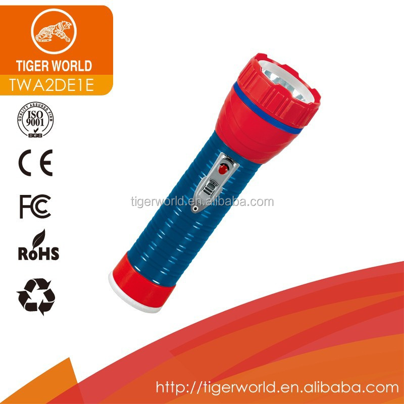 manufacturers OEM tiger world dry battery small pen metal body led torch for European market