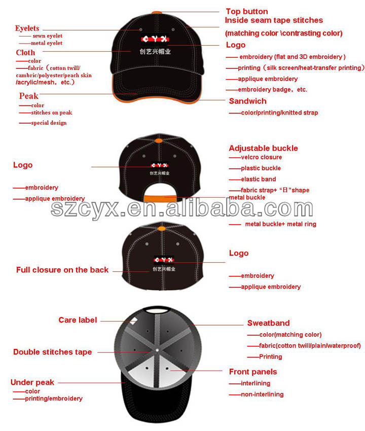 ece85e5ed4a Gold Metallic Thread Embroidery Cotton Baseball Snap Cap Hats - Buy ...