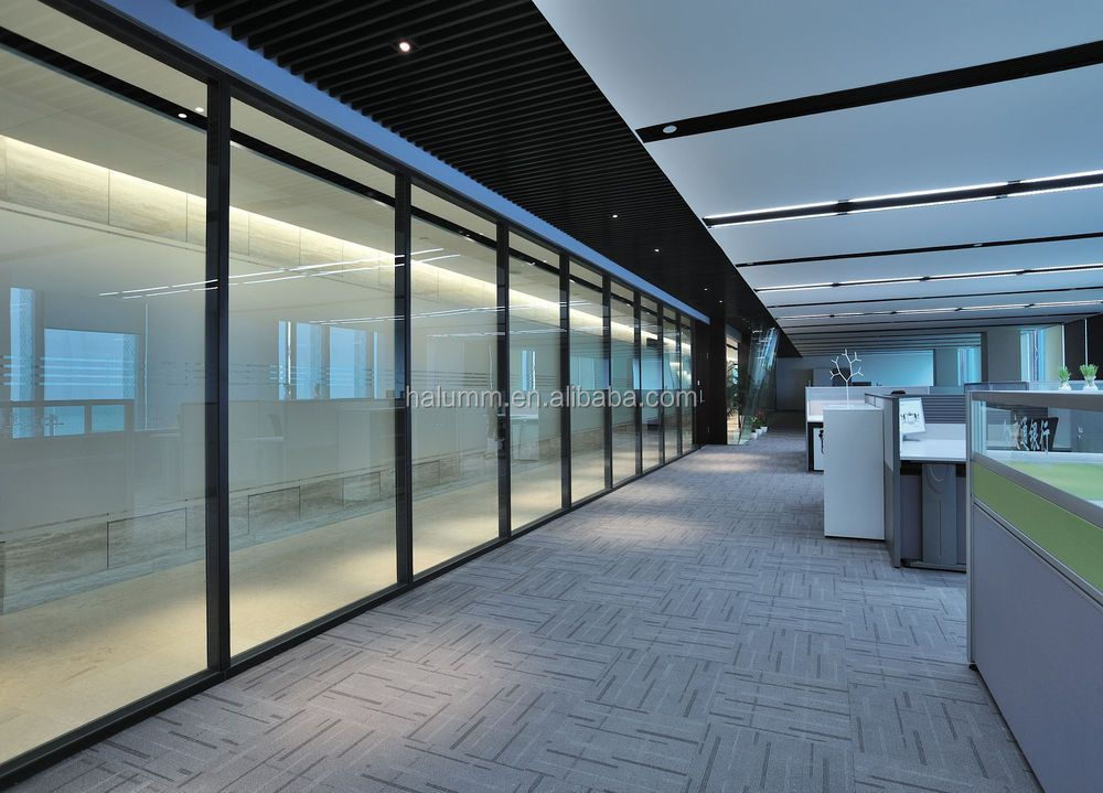 Frameless Glass Acoustic Panel Office Partition Soundproof Mdf ...