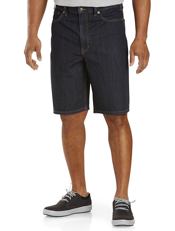 a4dce44bd21 Get Quotations · True Nation DXL 5-Pocket Dark Rinse Denim Shorts