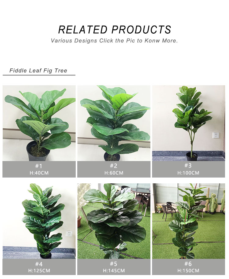 TH-15 Hot groothandel kunstmatige ficus bonsai bomen plastic faux fiddle leaf fig boom
