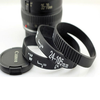 Hand Grip Photography Camera Lens Wristband Bracelet Silicone Rubber Ring 24 70mm 50mm