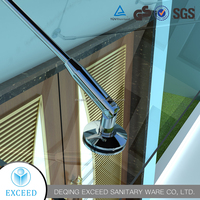 Glass Awning Canopy With Stainless Steel Support Bar
