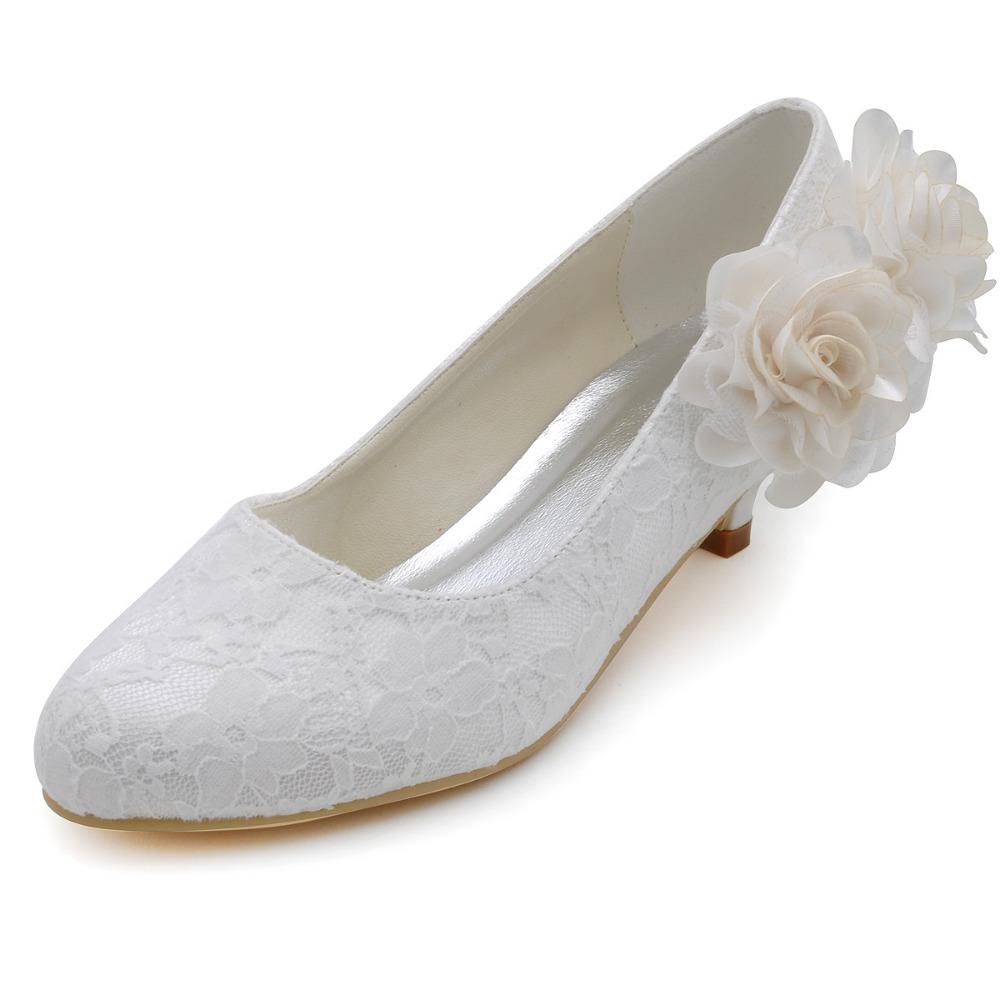 Ivory Wedding Shoes  Inch Heel