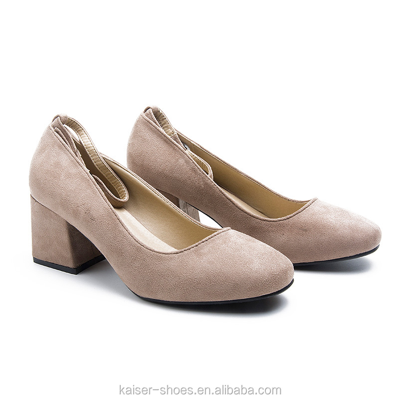 2017 High fashion block heel women <strong>shoes</strong> microfiber office ladies working <strong>shoes</strong> easy walking heel <strong>shoes</strong>