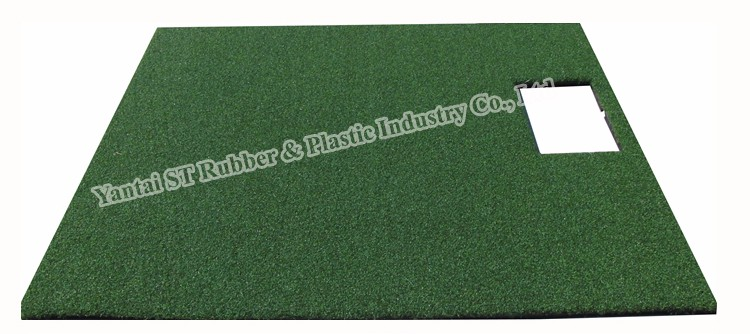 Indoor golf stance and hitting mat for golf simulator