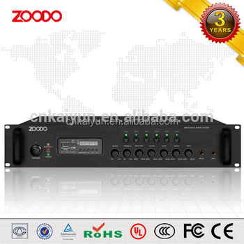 Mp-240p 240w 2u Broadcast Amplifier With 6-zone & Mp3/fm Tuner ...