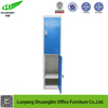 single column 2 doors changing room used metal storage cabinet workers lockers