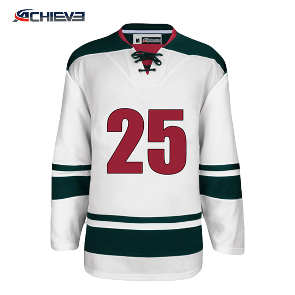 tackle twill embroidery team logo and number ice hockey jersey for game