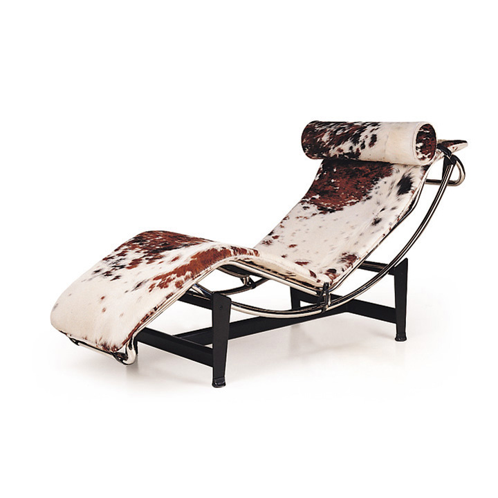 Modern Hotel Furniture S Shaped Le Corbusier Lc4 Chaise Lounge Chair Cushion