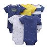 Wholesale Newborn Baby Clothes Short Sleeves Baby Cotton Romper Set
