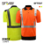 High visibility custom logo polo t shirt security traffic short sleeve plain men's work reflective safety clothing