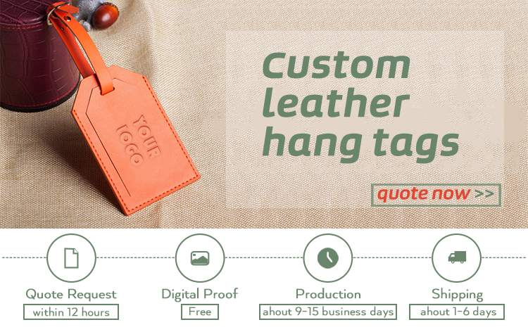embossed Leather luggage custom paperyour logo